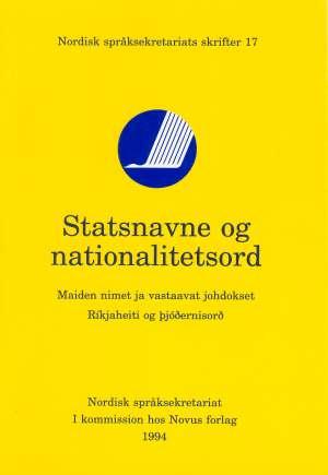 Statsnavne og nationalitetsord